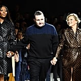 Kate Moss and Naomi Campbell Louis Vuitton Runway Jan 2018