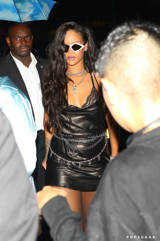 Rihanna's Leather Dress at the Fenty x Savage Afterparty
