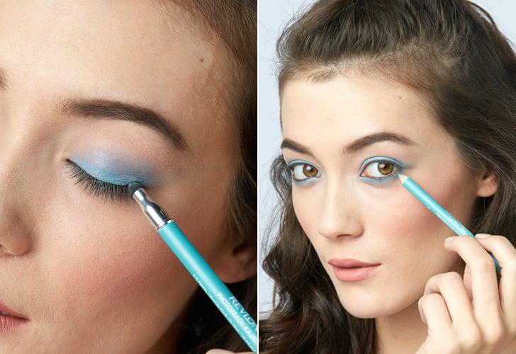 Step 1: Go bold with blue eyeliner