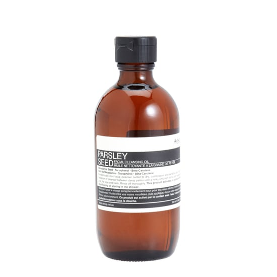 Aesop Parsley Seed Facial Cleansing Oil, $55  Perfect for sensitive skin, this gentle cleanser removes makeup without irritating or over-drying.