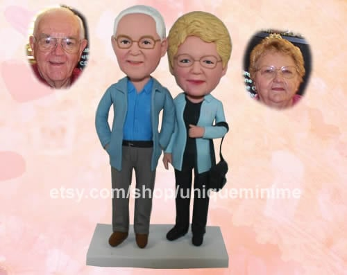 For the Grandparents With a Sense of Humor: Custom Figurines or Bobblehead Dolls