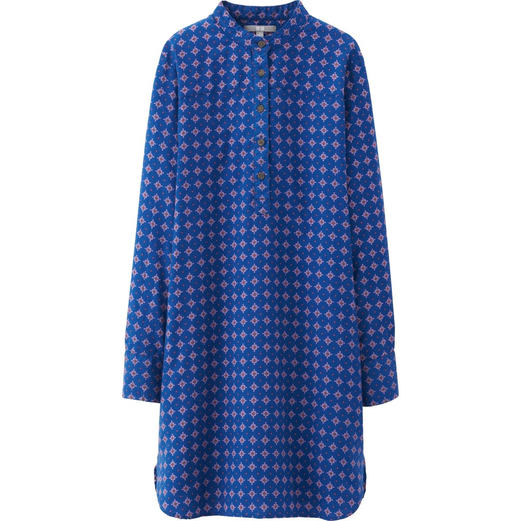 Uniqlo Flannel Printed Shirt Dress