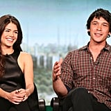 Marie Avgeropoulos and Bob Morley