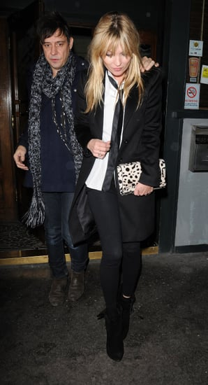 Pictures of Kate Moss and Jamie Hince at Groucho as She's Named in Financial Times Most Influential Women of Decade List