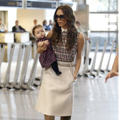 Victoria Beckham at LAX Pictures With Daughter Harper