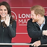 In April 2017, the duo could not have look any more thrilled for the London Marathon.
