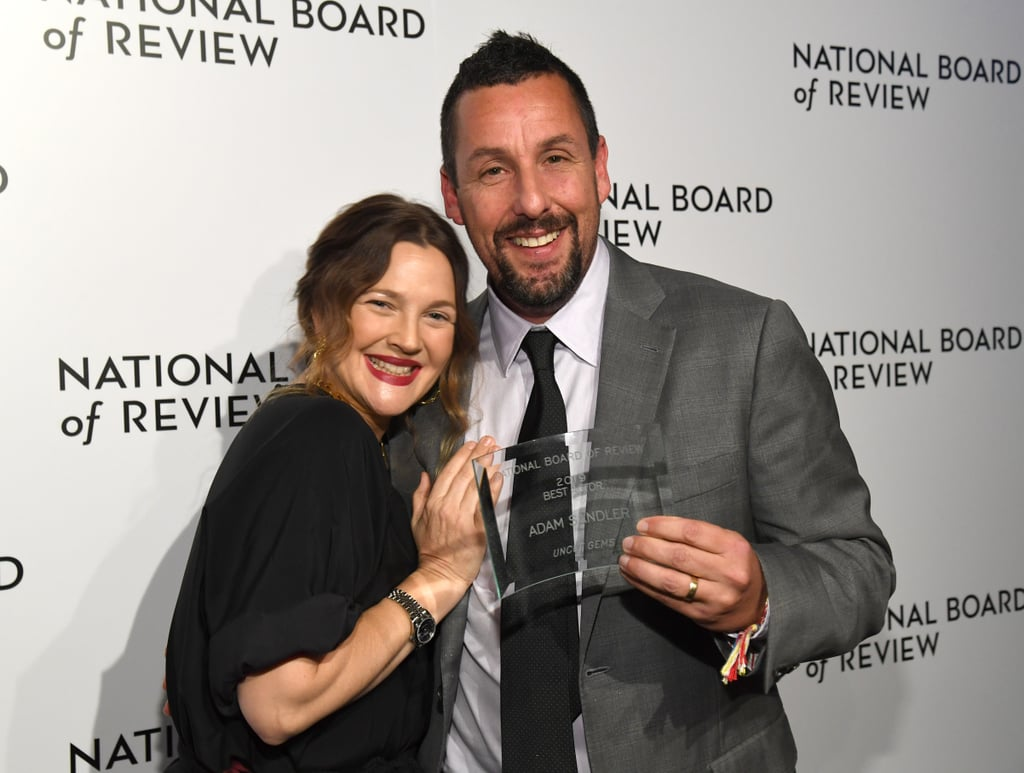 """When Adam Sandler and Drew Barrymore team up for a movie, you know it's going to be good. Over the years, the two have worked together on a handful of projects, but it's their real-life friendship that truly deserves an award. The duo first met in the late '90s when they costarred in The Wedding Singer and have since developed a strong bond off screen. """"I told him, I know that we are destined to work together,"""" Drew said about meeting Adam for the first time. """"I know we are a match and I believe you in [sic] so much. I want to be like [Audrey] Hepburn and [Spencer] Tracy even though we don't look like them, but I just I want to be in this partnership with you."""" In addition to costarring in 50 First Dates and Blended, they have also cheered each other on for big career milestones. Earlier this year, Drew presented Adam with best actor at The National Board of Review Annual Awards Gala in NYC. """"I love this man so much and I have always believed in him,"""" Drew said in her speech. """"This moment could honestly could [not] be more deserved. I know that everyone is rooting for you because you have earned everyone's respect. You deserve the best, you give the best, and you are the best. I love you very much."""" Get ready to feel nostalgic as you look at some of their sweetest friendship moments ahead.      Related:                                                                                                           Adam Sandler Has Big Daddy to Thank For His 2-Decade-Long Romance With Wife Jackie"""