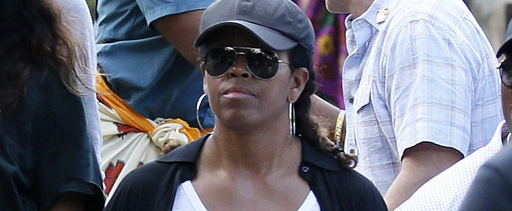 Michelle Obama Only Needs This 1 Item to Make Her Travel Outfit Stand Out