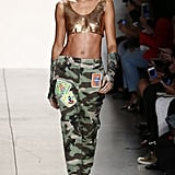 At the Jeremy Scott Show, Joan Gave Us a Peek at Her Toned Abs