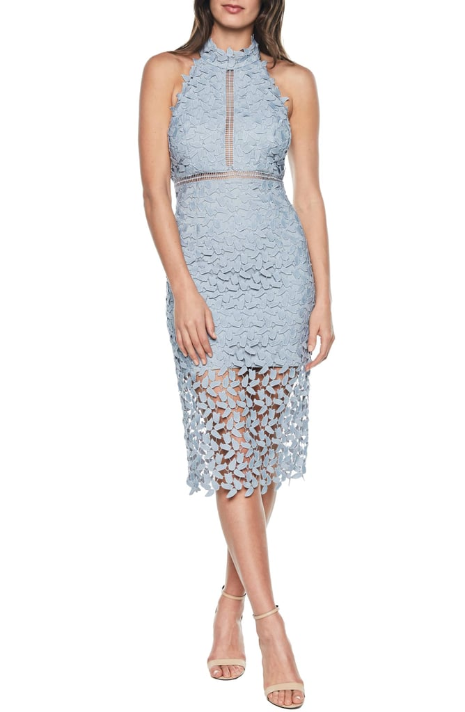 27a6de0a Bardot Gemma Halter Lace Sheath Dress | Summer Dresses on Sale at ...