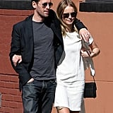 Kate Bosworth and Michael Polish had their arms around each other during a visit to the 9/11 memorial at Ground Zero.