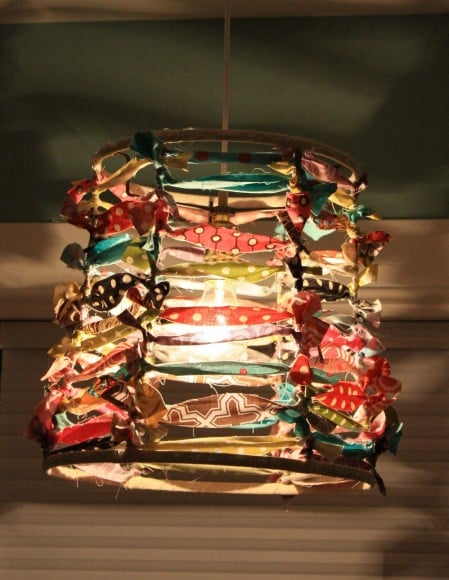 Fabric Strand Lampshade