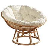 Papasan Chair Frame With Fuzzy Cushion