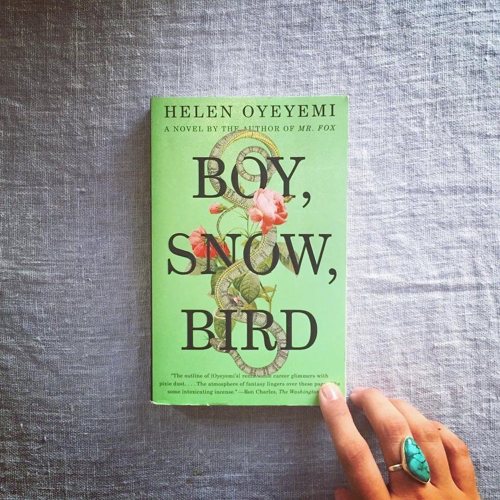 """""""(4/5) This book is interesting. I felt, the whole time, like I was reading a fairytale but couldn't really pinpoint what led me to feel that way. With just the most subtle hint of whimsy, Boy, Snow, Bird tells the story of three girls (yes, Boy, Snow, and Bird are the greatest female lead names ever) trying to find their identity as everyone around them tries to define it for them. We've got stepmothers, tricky mirrors, Prince Charmings, and even a few villains but trust me when I say that nothing in this story is make-believe, just all very magical."""""""