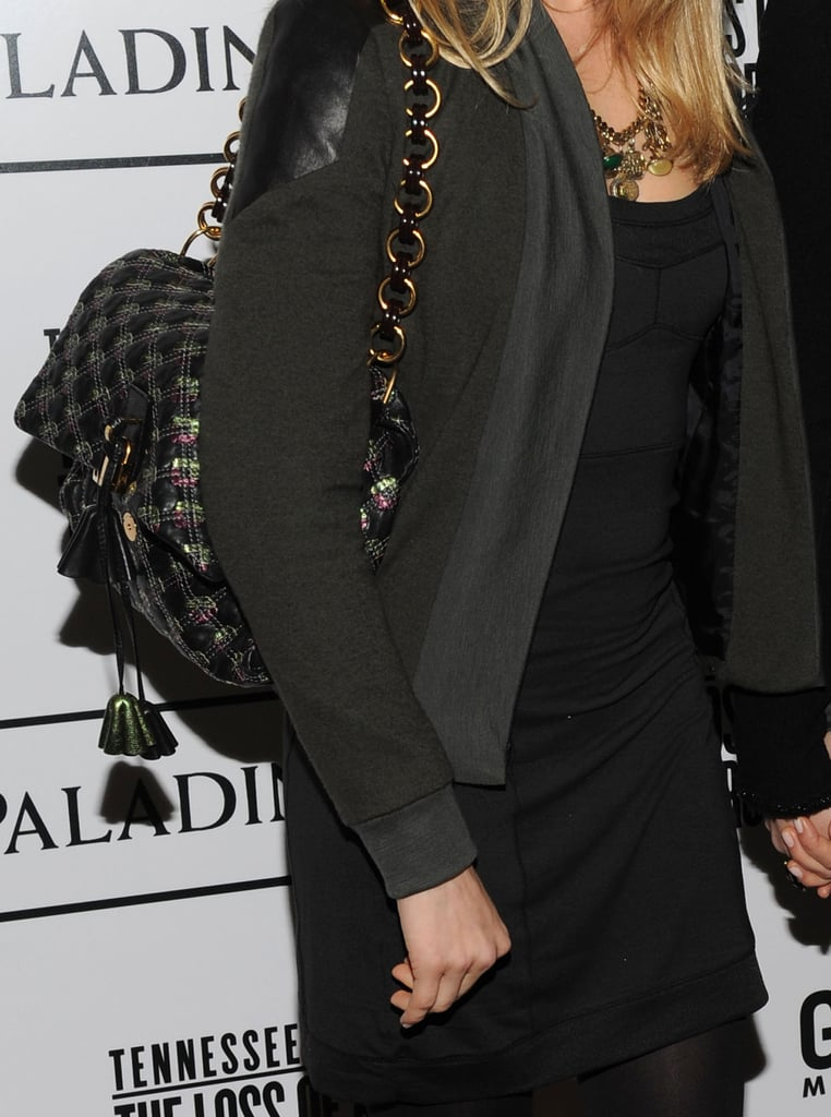 Sienna Miller wearing a Marc Jacobs Robert Jennifer Bag