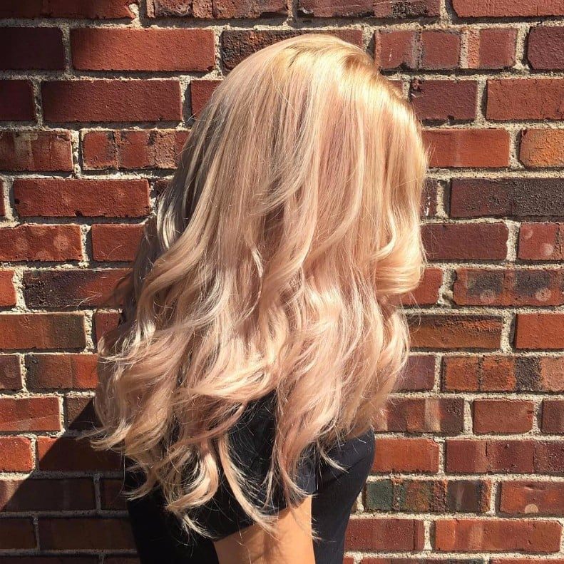 Rose Gold Blonde Hair Popsugar Beauty