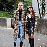 Style Your Leopard-Print Coat With: A Black Sweater, Jeans, and Combat Boots