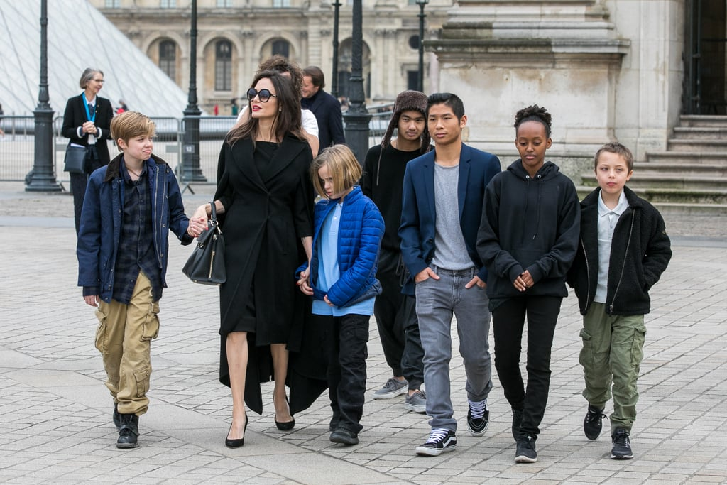 Angelina Jolie and Brad Pitt are the proud parents to six beautiful kids: Maddox, 16, Pax, 14, Zahara, 13, Shiloh, 11, and twins Vivienne and Knox, 9. Even though the couple may no longer be together, we've been seeing more and more of Angelina and her family as of late. In addition to joining the actress on her press tour for First They Killed My Father, Angelina gave the world a glimpse into her family dynamic during an interview with BBC World News, and recently, Pax accompanied his mom to the Golden Globe Awards in LA. Keep reading to see even more sweet moments between the family.       Related:                                                                                                           13 Things Brad Pitt and Angelina Jolie Have Said About Their Shocking Split