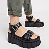 Truffle Collection Chunky Flatform Heeled Sandals
