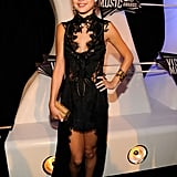 Selena Gomez Gets the MTV VMA Preshow Party Started in Black Lace