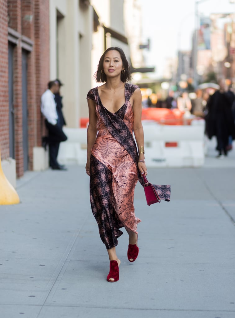 Style a Slip Dress With Mules