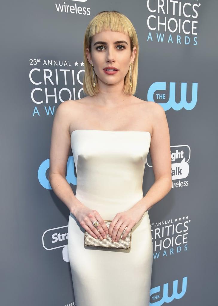 Emma Roberts Hair at the 2018 Critics' Choice Awards