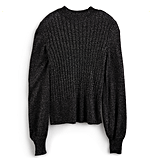 Lurex Mockneck Sweater