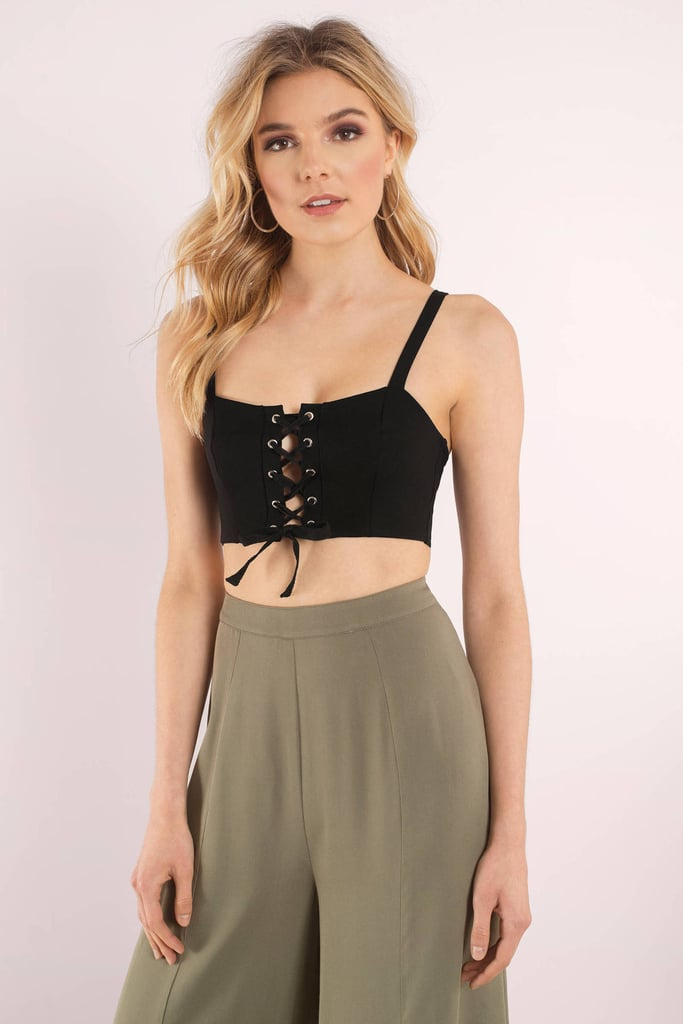 54667205489b8 Tobi Justine Lace Up Crop Top