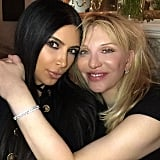 Who knew Kim Kardashian and Courtney Love were so close? The pair posed together for this 2015 selfie.