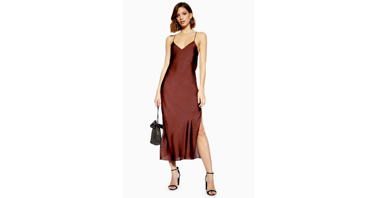 213a1f1e Topshop Plain Satin Slip Dress | It's Jennifer Aniston's Party, but I Only  Have Eyes For Amal Clooney's Slip Dress | POPSUGAR Fashion Photo 11