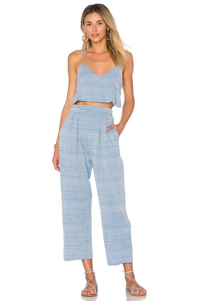 Mara Hoffman Easy Draped Pant in Blue