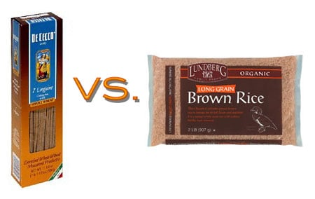 Brown Rice vs. Whole Wheat Linguine