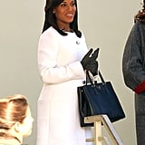 In October, Kerry's pregnancy news broke — she and her husband, Nnamdi Asomugha, are expecting a baby next year! However, in recent Scandal set photos, you can barely see her bump.