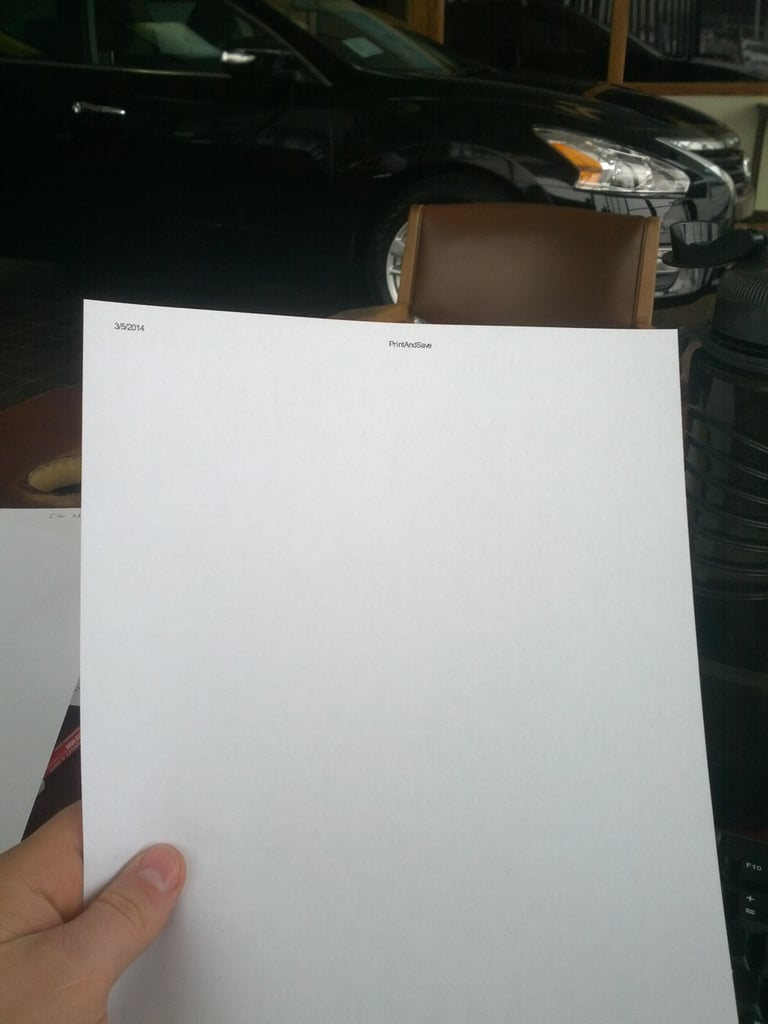 When You Print a Page Like This