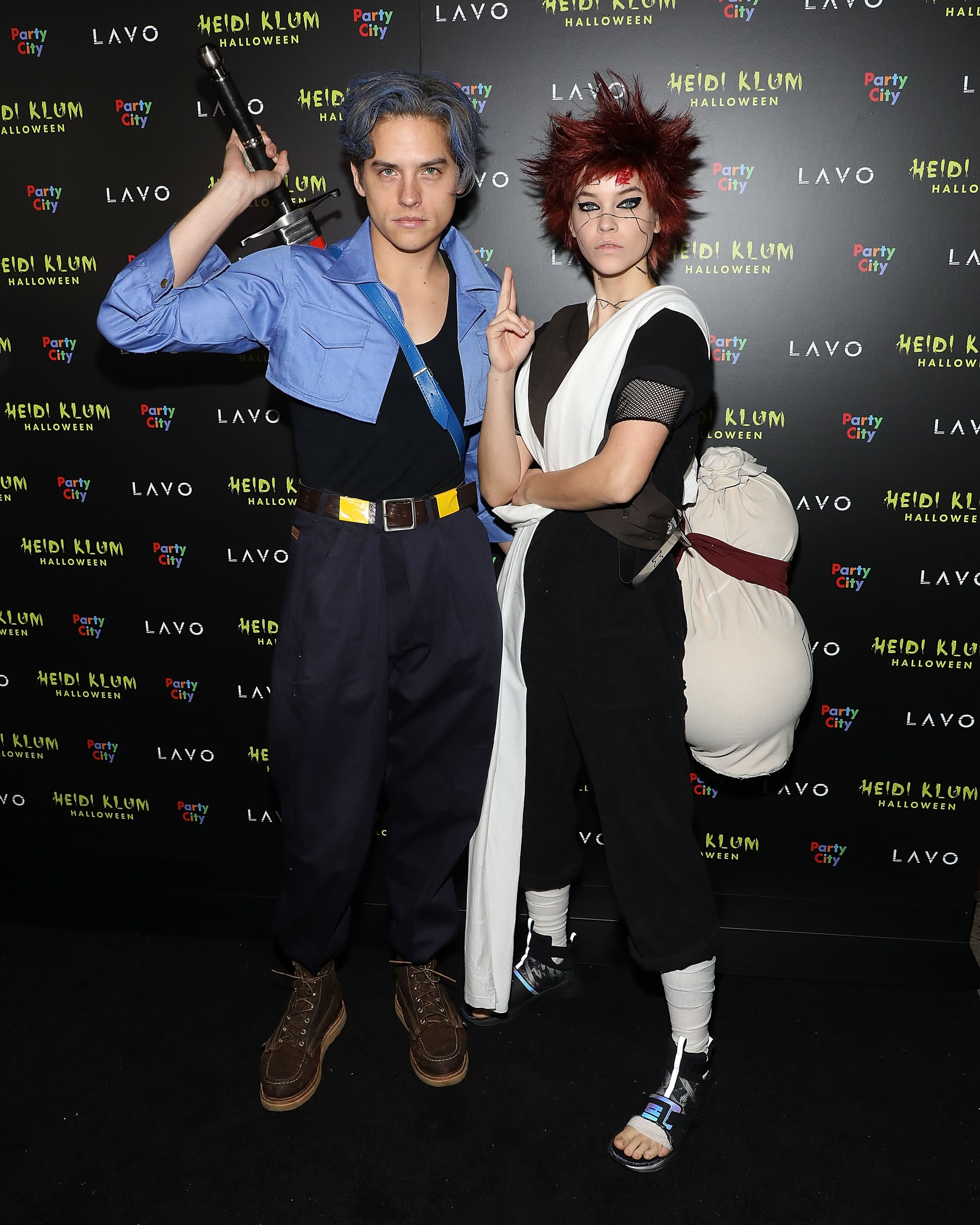 Barbara Palvin Halloween Costume 2020 Dylan Sprouse and Barbara Palvin as Future Trunks and Gaara