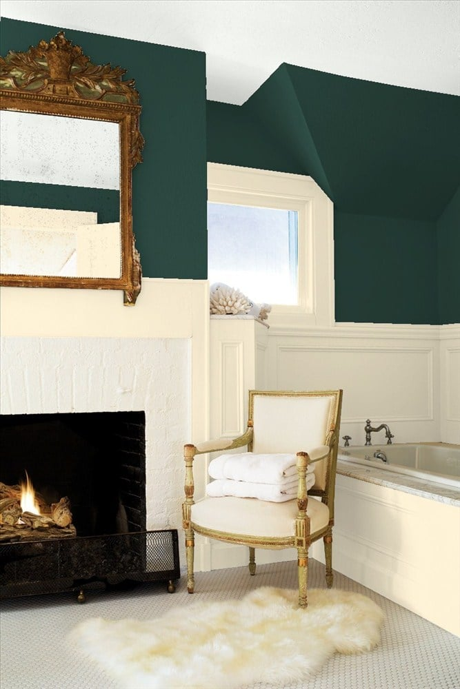 Hunter Greens Best Bathroom Paint Colors Popsugar Home