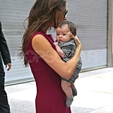 Victoria Beckham brings Harper out in NYC.