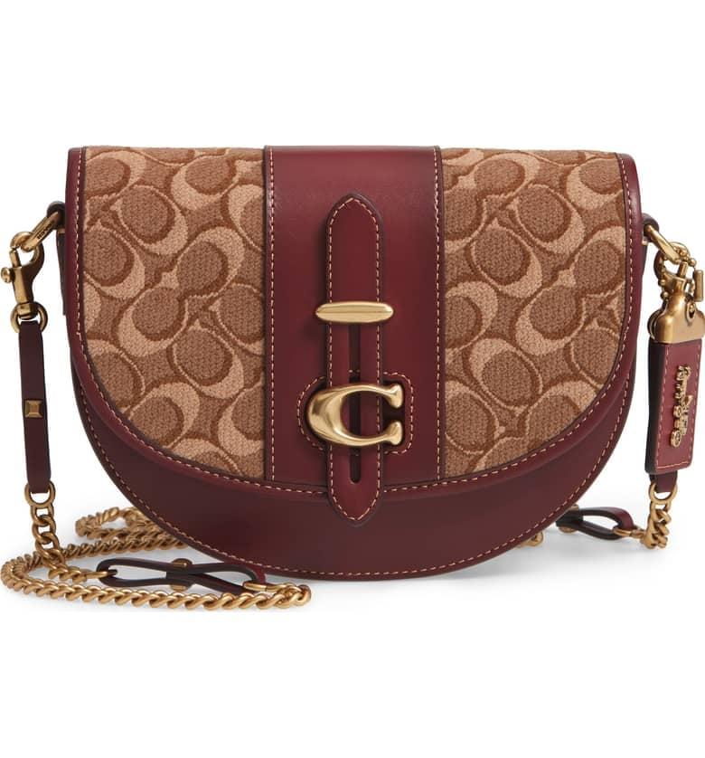 0332f68f04db Coach Saddle 20 Signature Jacquard   Leather Crossbody Bag