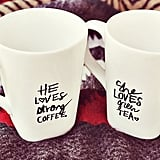 DIY His and Her Sharpie Mugs