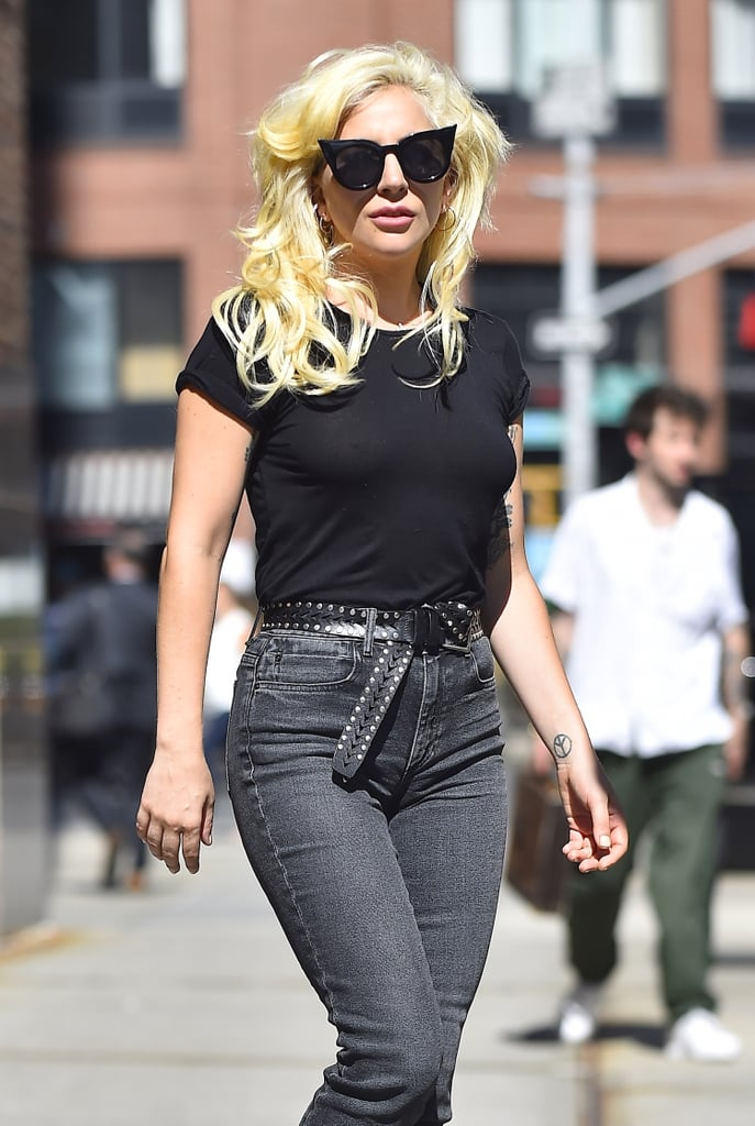 """Following a painful breakup with fiancé Taylor Kinney, Lady Gaga seems to be bouncing back just fine. The """"Born This Way"""" singer looked particularly stylish while leaving a radio station in the NYC neighborhood of TriBeCa on Wednesday, which came just after she revealed that she's releasing a new single, """"Perfect Illusion,"""" sometime in September via Instagram. In addition to the exciting music news (where's the new album, Gaga?!), she'll be bringing her Emmy-winning acting skills back to American Horror Story on Sept. 14 and also to Bradley Cooper's A Star Is Born remake, which will likely be out in 2017. Until those projects come to fruition, we'll just have to pray she continues her recent streak of jaw-droppingly perfect NYC outings."""