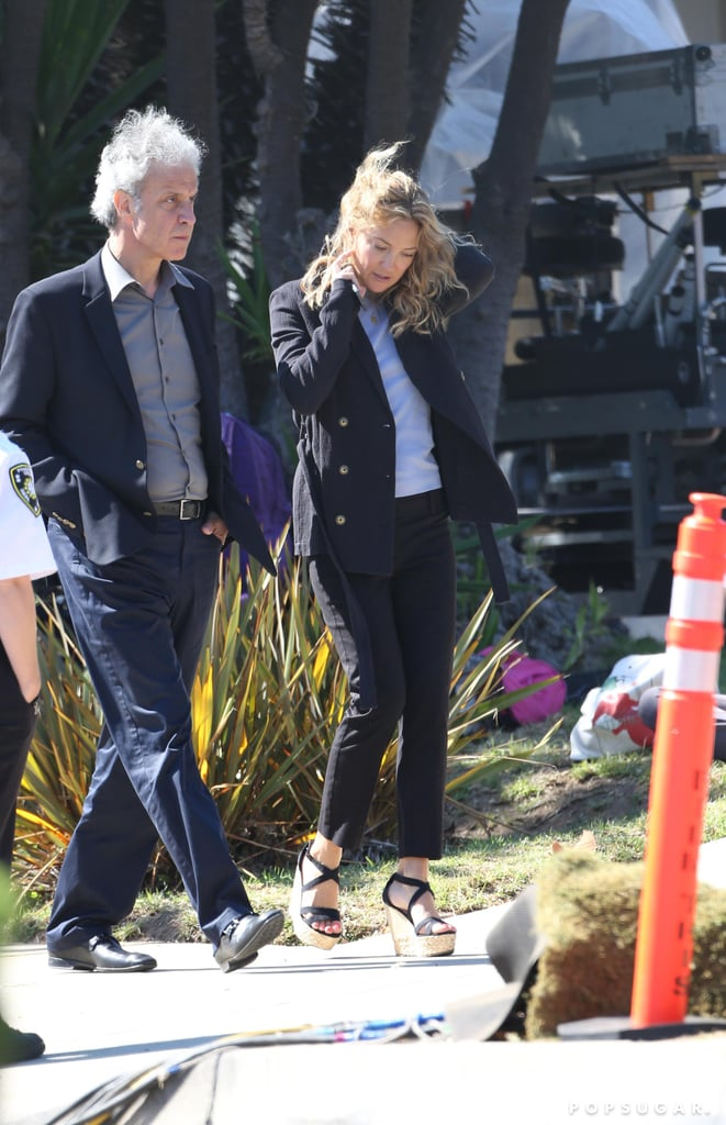 Kate Hudson arrived on the set of Wish I Was Here in LA.