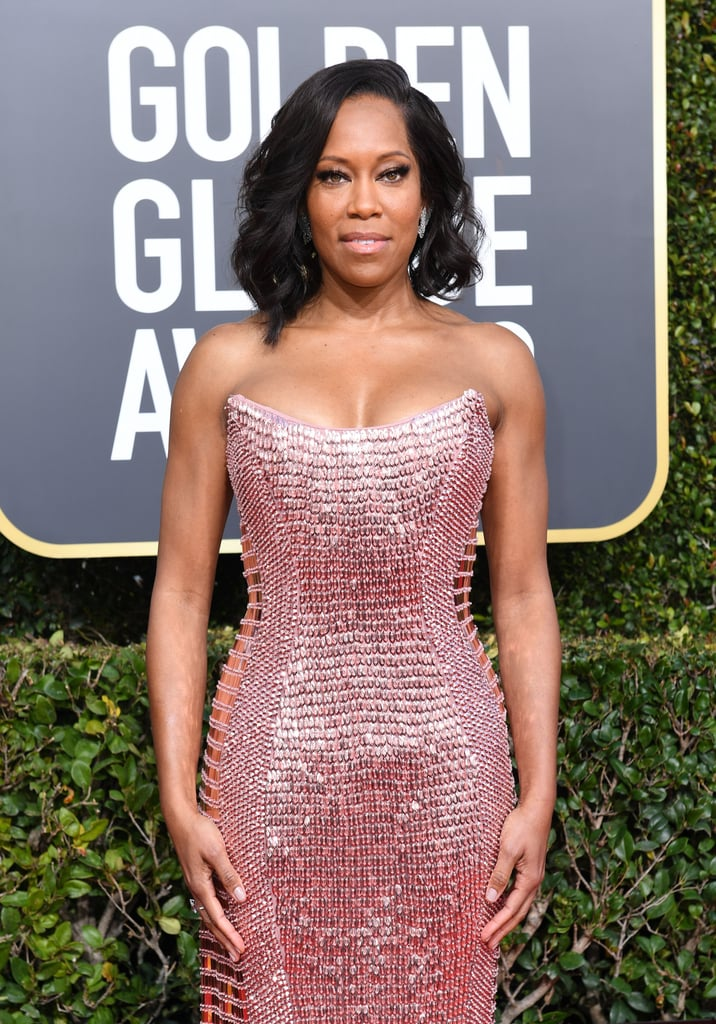 "Regina King made heads turn as she attended the Golden Globes on Sunday night. The actress, who is nominated for her performances in If Beale Street Could Talk and Seven Seconds, looked stunning in a strapless pink dress. In addition to working the red carpet, she also shared her sweet bond with her son, Ian Alexander, Jr., who she brought along as her date.  While talking with Ryan Seacrest for E! News, the actress looked like a proud mom as her 22-year-old talked about the Time's Up movement and the importance of equality in the workplace. Of course, it was his quotes about being Regina King's son that really made our hearts melt. ""Usually people will ask me, 'What's it like having Regina King be your mother,'"" he said. ""She's just a supermom, really. She doesn't really let bad work days or anything come back and ruin the time that we have, so it's really awesome to have a mother that . . . I can enjoy spending time with and all that."" See more of Regina and Ian's mother-son outing ahead!      Related:                                                                                                           Every Stunning Dress From the 2019 Golden Globe Awards"
