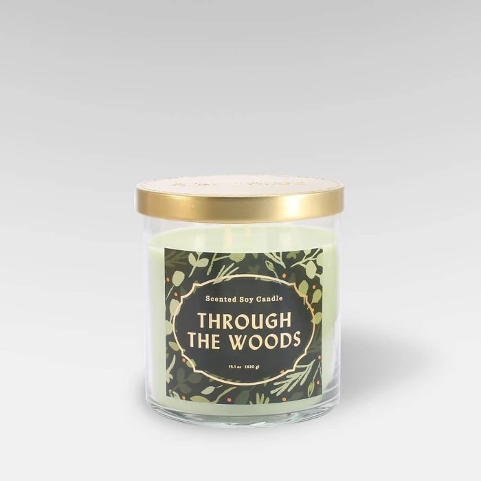 Through the Woods Lidded Glass Jar 2-Wick Candle