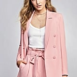 River Island Pink Double-Breasted Blazer