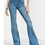 Express Mid-Rise Released Hem Bell Flare Jean ($80)
