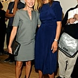 Naomi Watts and Uma Thurman snapped photos backstage at Calvin Klein's show.