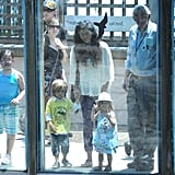 Camila and the kids checked out the sights in the Central Park Zoo.