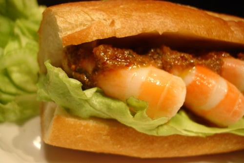 Shrimp Rémoulade Po'Boy