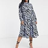 Glamorous Curve Zebra Midi Dress