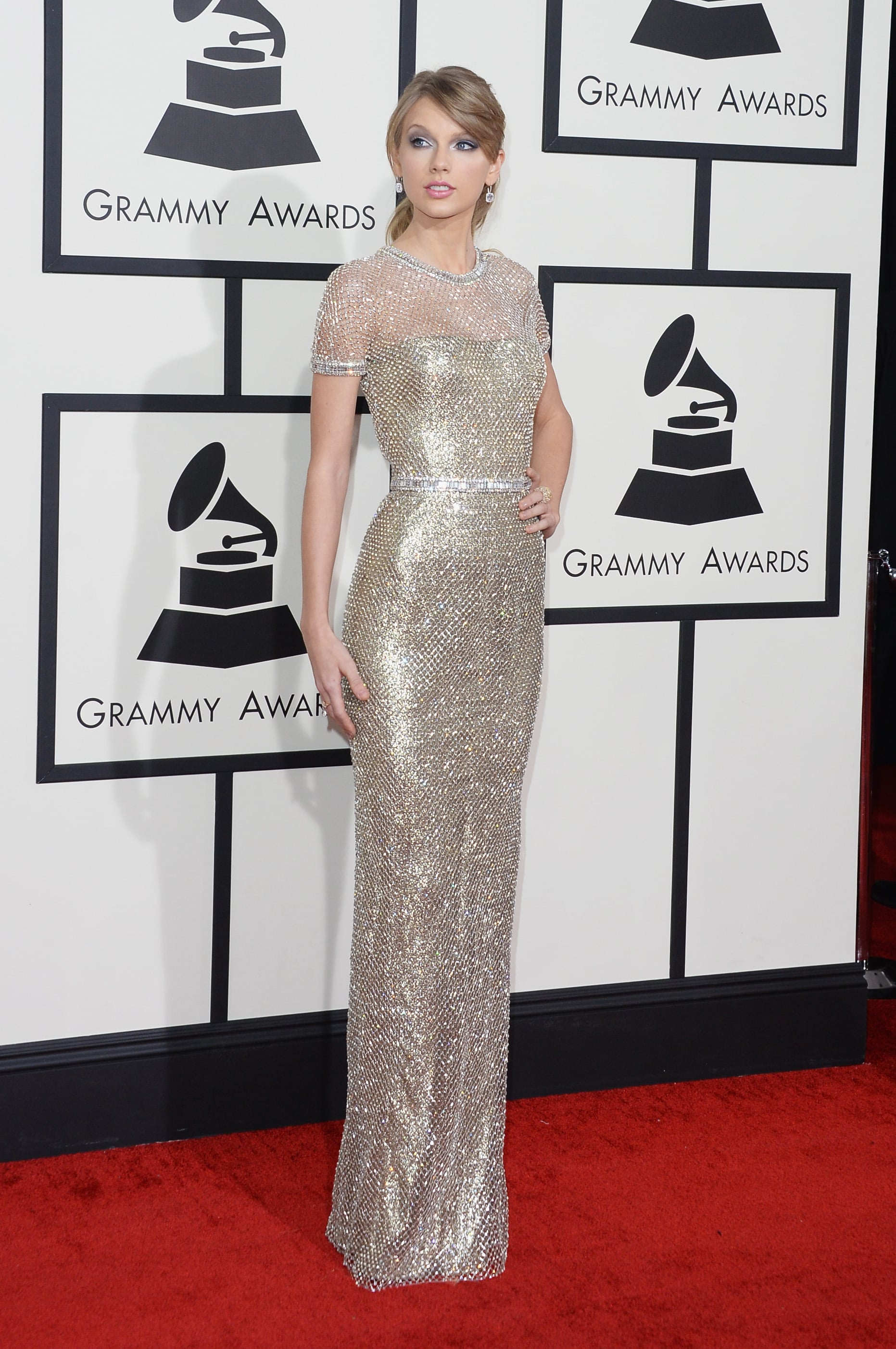 Taylor Swift S Dress At Grammys 2014 Popsugar Fashion